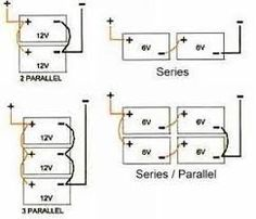 How do i connect 4 six volt batteries to my 12 volt rv house battery image result for graphic of parallel battery wiring publicscrutiny Choice Image