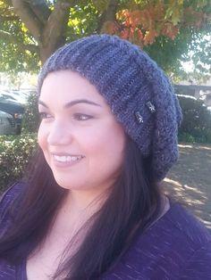 Handmade Crochet Slouch, Boho Beanie, Women Teen Girl Men Boy Blue Hat, Swanky Chic Hat, Boho Hippie Slouch, Bohemian Hat, Free Shipping