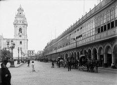 Plaza de Armas antes de la creacion del Pasaje Olaya