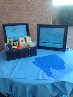 Decorate a Block DIY Baby Shower activity