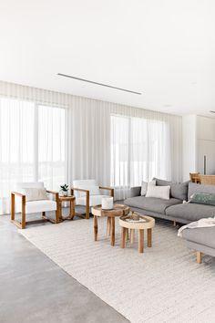 Modern Contemporary Living Room, Living Room Modern, Living Room Interior, Modern Decor, Designs For Living Room, Lounge Room Designs, Natural Living Rooms, Modern Lounge Rooms, Living Room Grey