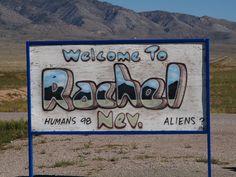 Rachel Nevada Extraterrestrial Highway Area 51 2007 Roads Signs ...