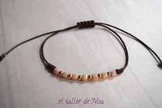#Pulseras ref. gbi15003 de la Col. Glissant Bracelet, regulables y con detalle central. Te gustan los #perritos, o eres una #enamorada del #amor... Compras en www.eltallerdenoa.com #bisutería #jewelry #bracelet, #adjustable #dog #love #joyería
