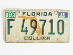 Florida+License+Plate+Collier+County $7.99 free shipping