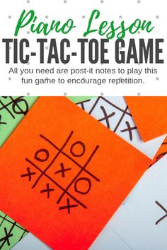 Piano Teaching Motivate your students to drill measures in their piano piece with this modified tic-tac-toe game that they'll beg to play! Piano Games, Piano Music, Music Games, Piano Lessons, Music Lessons, Piano Teaching, Learning Piano, Teaching Resources, Teaching Ideas