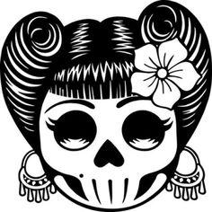 elvis sugar skull silhouette - Google Search