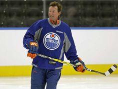 Edmonton Oilers great Wayne Gretzky skates at Rogers Place on Sept. Wayne Gretzky, Hockey Stuff, Edmonton Oilers, National Hockey League, Alberta Canada, Skates, Nhl, The Originals, History