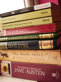 Collection of books, beautiful books, greatest authors of these past centuries