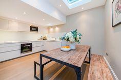 bulthaup kitchen in Alpine White matt lacquer. Bulthaup B1, Alpine White, Kitchen Images, Luxury Kitchens, Kitchen Design, Cool Designs, Appliances, Bathroom, Table