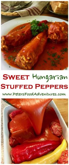 A Hungarian classic summer dish – paprika peppers with with ground beef, rice and paprika spice. Cooked in a delicious tomato passata sauce. Summer comfort food – Hungarian Stuffed Peppers (töltött paprika) Source by himawel Pasta Recipes, Beef Recipes, Dinner Recipes, Cooking Recipes, Healthy Recipes, Pepper Recipes, Healthy Soup, Eating Healthy, Holiday Recipes