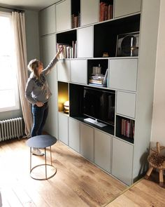 Living Room Desgn Ikea Offices New Ideas Living Room Decor Set, Living Room Storage, Living Room Tv, Home And Living, Living Room Designs, Ikea Office, Office Lounge, Cheap Home Decor, Home Decoration