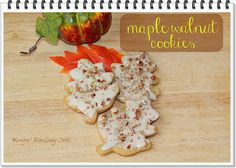 Maple Walnut Cookies, an easy cut out cookie to welcome fall. Click thru for the easy recipe http://wp.me/p3sX9D-c