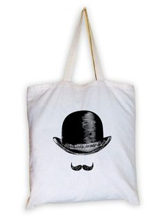 What goes with a mustache? Why, a bowler hat of course!