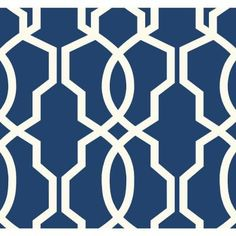 York Wallcoverings 60.75 sq. ft. Ashford Geometrics Hourglass Trellis Wallpaper-GE3668 - The Home Depot
