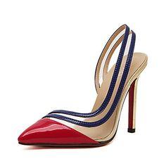 Femme Chaussures Similicuir Eté Talon Aiguille   Plateau Rouge   Doré    Habillé 250e28093011
