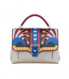 Paula Cademartori Faye Petite Abstract-Print Leather Satchel