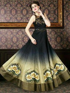 2ee16d71b6f871 Designer salwar suits and trendy suits available in a variety of latest  designs. Shop this amusing embroidered and patch border work black anarkali  salwar ...