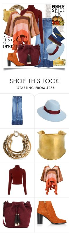 """""""Pumpkin Spice Style"""" by capricat ❤ liked on Polyvore featuring Tortoise, Borsalino, Rosantica, Emilio Pucci, A.L.C., Apiece Apart, Loeffler Randall, Chloé and Dolce&Gabbana"""