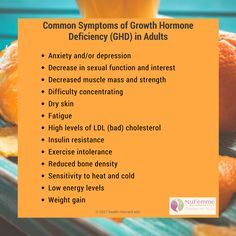 Common Symptoms of Growth Hormone Deficiency (GHD) . Call us to learn more: . Cushing Disease, Hormone Replacement Therapy, Female Hormones, Resistance Workout, Bone Density, Growth Hormone, Energy Level, Muscle Mass, Anti Aging Skin Care