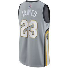 adidas Men's LeBron James Cleveland Cavaliers City Swingman Jersey ($110) ❤ liked on Polyvore featuring men's fashion, men's clothing, men's activewear, men's activewear tops, silver, mens jerseys, mens basketball jerseys, men's apparel, mens nba jerseys and mens clothing