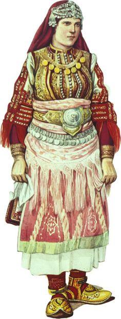 Macedonian grandmother dressing code Greek Traditional Dress, Traditional Fashion, Traditional Outfits, Antigua Yugoslavia, Folklore, Serbia And Montenegro, Republic Of Macedonia, Costumes Around The World, Folk Fashion