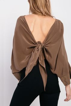 Stevie Tie Top in Silk Crepe