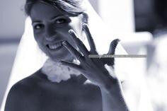 Beautiful Bride. Detail of wedding ring.