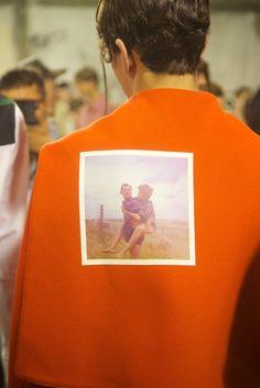 Raf Simons SS15 backstage byAlfredo Piola. [via]