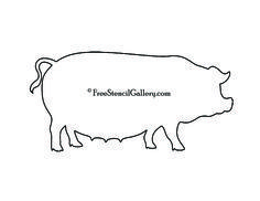 Farm Stencil COW PiG CHICKEN stack Large 3 by
