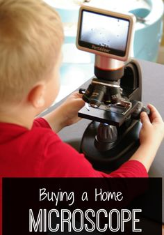 Choosing a microscope for home. Here's why we chose the one we did and what we love about it.