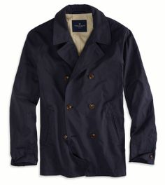 Navy AE Double Breasted Pea Coat
