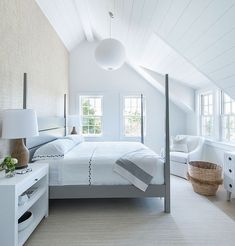 Want to get the cozy minimal Scandinavian style at home? We rounded up some of our favorite Scandinavian interior design ideas along with handy décor tips. Sloped Ceiling Bedroom, Interior, Home, Coastal Interiors, Bedroom Design, Coastal Bedrooms, Home Interior Design, Interior Design, Coastal Interiors Design