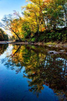 October color along Buffalo National River.