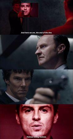 "Sherlock - The final problem - Sherlock, Mycroft, Moriarty - ""Holmes killing Holmes. Sherlock Fandom, Sherlock John, Sherlock Bbc Quotes, Sherlock Bbc Funny, Sherlock Tumblr, Sherlock Season 4, Sherlock Moriarty, Benedict Cumberbatch Sherlock, Sherlock Poster"