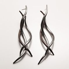 Twisted Zebra Pod Earrings now featured on Fab.
