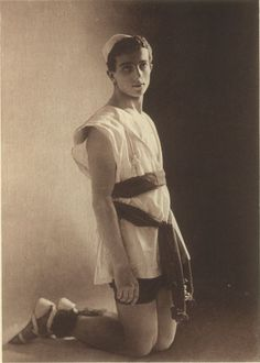 Leonide Massine, Ballets Russes dancer and choreographer, photographed in 1915.