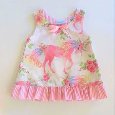 Another Great Find On Zulily! Girls Frock Design, Baby Dress Design, Baby Frocks Designs, Kids Frocks Design, Baby Girl Dress Patterns, Baby Clothes Patterns, Kids Dress Wear, Little Girl Dresses, Baby Summer Dresses