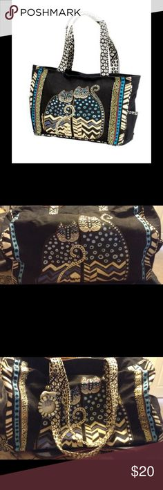 Laurel Burch Dot Gatos Bag  Original Laurel Burch Bag. Some of the beading has come off but it still looks in very good shape. Very roomy and comfortable. Laurel Burch Bags Totes