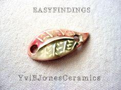 Hey, I found this really awesome Etsy listing at https://www.etsy.com/listing/177484818/bracelet-charm-ceramic-leaf-pendant-bent
