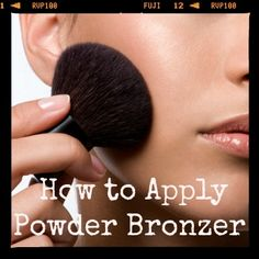 Here are some quick makeup tips on how to apply powder bronzer for a smooth application from makeup artist Kendall Swenson of Belle Mademoiselle. www.TheGuidetoGettingGlam.com #makeup tips #TheGuidetoGettingGlam  #bronzer