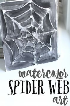 Watercolor Spider Web Art:  Such a fun Halloween decoration that children of all ages can help with!