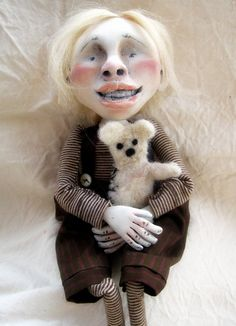 Handmade Loopy  Victorian Goth Art Doll Orphan Albert by loopyboopy on Etsy....love her dolls.
