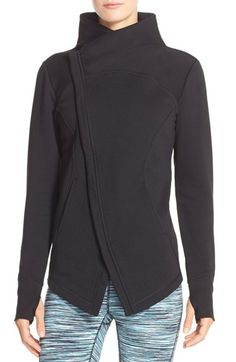 Zella 'Snowdrift' Asymmetrical Zip Sweatshirt available at #Nordstrom
