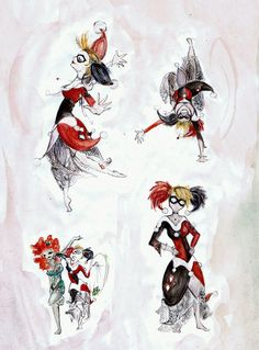 Evening Dress HQ by on DeviantArt Female Comic Heroes, All Batmans, Gotham Girls, Going Insane, Madly In Love, Comic Movies, Joker And Harley Quinn, Various Artists, Evening Dresses