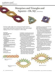 PEANUT Bead Jewelry Components by Melinda Barta - FREE Tutorial. Page 1 of 2