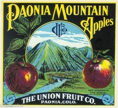 Crate Label Vintage Colorado Paonia Union Fruit Company 1911 Apple Scarce | eBay
