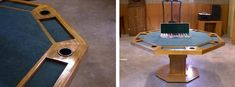How to Build a Poker Table - Step by Step Instructions Poker Table Diy, Poker Table Plans, Octagon Poker Table, Pine Trim, Diy Furniture Plans, Ping Pong Table, Woodworking Tips, Game Room, How To Plan