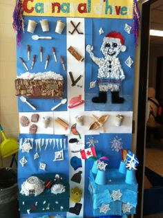 Door decorating contest during le carnaval d'hiver!