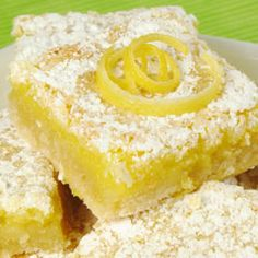 Gluten Free Lemon Bars Recipe - made these today - they are yummy. You would never know they're gf.