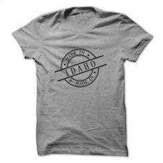 Made In Idaho Stamp Style Logo Symbol Black T Shirt, Hoodie, Sweatshirts - printed t shirts #Tshirt #fashion